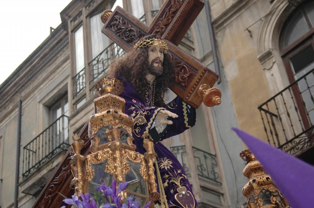 """NUESTRO PADRE JESÚS NAZARENO """"EL VIEJO"""" DURANTE LA PROCESIÓN DE LOS PASOS"""