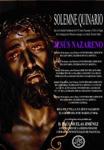 Cartel Quinario a N.P. Jesús Nazareno 2014.
