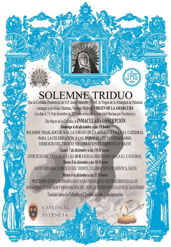 TRIDUO, VIGILIA Y PROCESIÓN EXTRAORDINARIA 400 ANIVERSARIO 2015