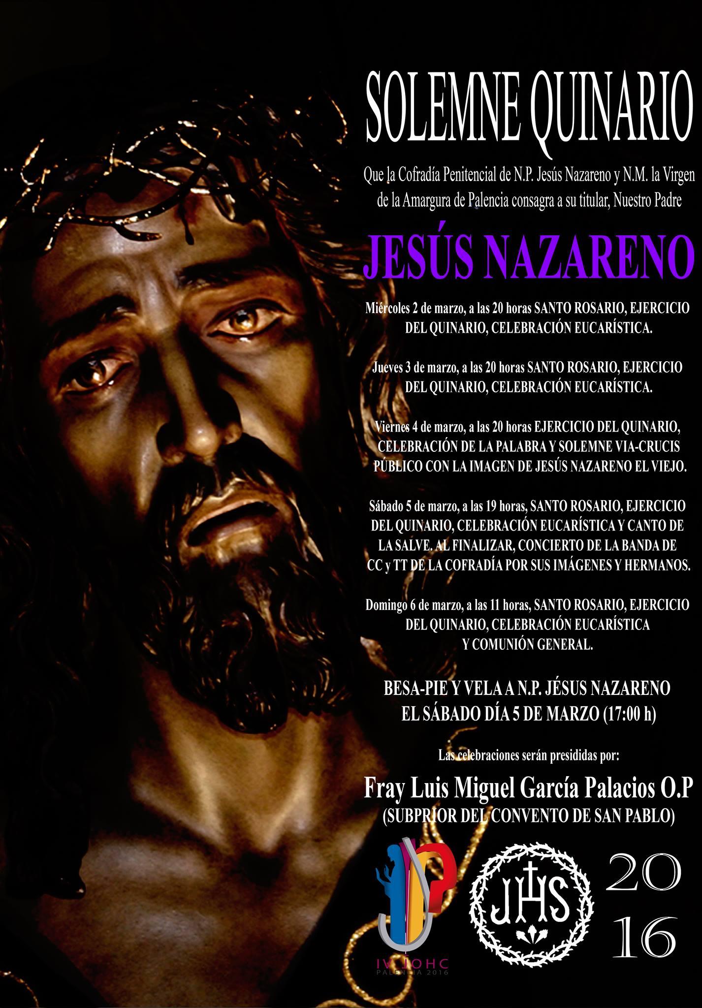 Quinario a N.P. Jesús Nazareno